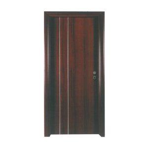 Πόρτα Ασφαλείας Laminate Κωδ.11 με Διακοσμητικό Inox