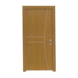 Πόρτα Ασφαλείας Laminate Κωδ.217 με Διακοσμητικό Inox