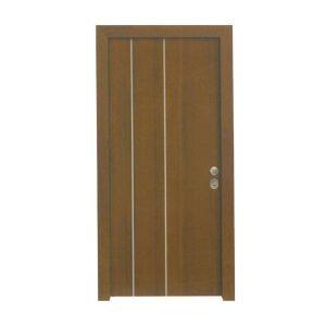 Πόρτα Ασφαλείας Laminate Κωδ.223 με Διακοσμητικό Inox